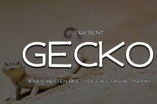 Print on Demand: Gecko Display Font By edwar.sp111