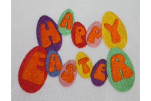 Happy Easter Eggs Easter Embroidery Design By Wingsical Whims Designs