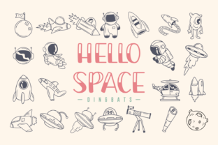 Print on Demand: Hello Space Dingbats Font By Rizkky (7NTypes)