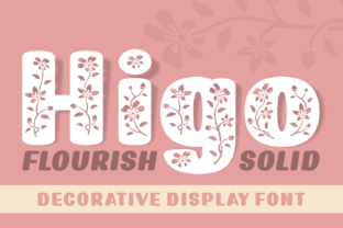 Print on Demand: Higo Decorative Font By Rizkky (7NTypes)