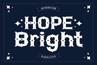 Print on Demand: Hope Bright Blackletter Font By Rizkky (7NTypes)