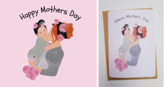 How to make a Mother's Day card with Cricut