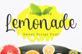Print on Demand: Lemonade Script & Handwritten Font By Guritatype