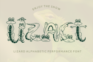 Print on Demand: Lizact Decorative Font By Dito (7NTypes)