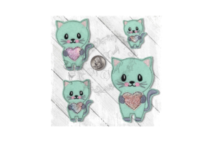 Love Kitty 1 Cats Embroidery Design By Yours Truly Designs