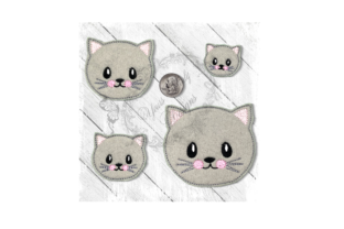 Love Kitty Head Cats Embroidery Design By Yours Truly Designs