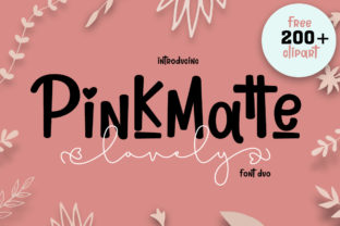 Print on Demand: Lovely Pinkmatte Script & Handwritten Font By Fillo Graphic