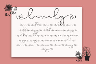 Print on Demand: Lovely Pinkmatte Script & Handwritten Font By Fillo Graphic 10