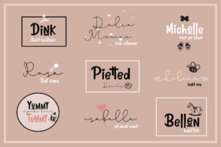 Print on Demand: Lovely Pinkmatte Script & Handwritten Font By Fillo Graphic 3