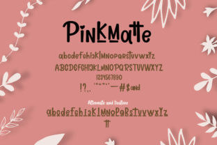 Print on Demand: Lovely Pinkmatte Script & Handwritten Font By Fillo Graphic 8