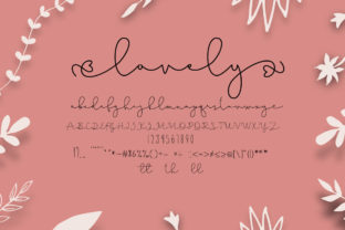 Print on Demand: Lovely Pinkmatte Script & Handwritten Font By Fillo Graphic 9