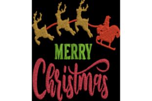 Merry Christmas Christmas Embroidery Design By Wingsical Whims Designs