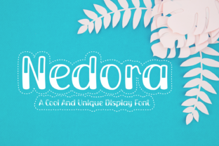 Print on Demand: Nedora Display Font By Rizkky (7NTypes)