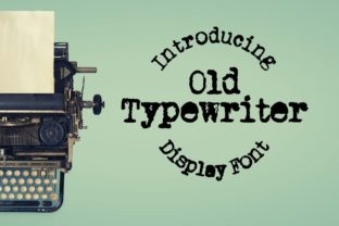 Print on Demand: Old Typewriter Display Fuente Por design.steiner