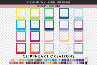 Photo Frame Clip Art - 100 Colors Graphic Icons By clipheartcreations