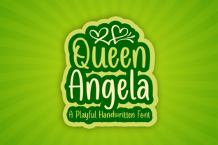 Print on Demand: Queen Angela Display Font By Jasm (7NTypes)