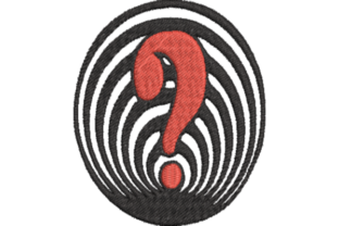 Question Mark Games & Leisure Embroidery Design By Wingsical Whims Designs