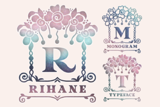 Print on Demand: Rihane Decorative Font By Situjuh