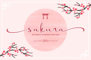Print on Demand: Sakura Script & Handwritten Font By Nirmala Creative