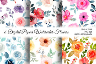 Print on Demand: Seamless Pattern Floral Watercolor 139 Graphic Patterns By asrulaqroni
