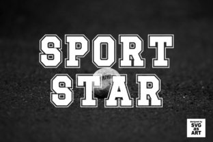 Print on Demand: Sport Star Display Font By SVGasART