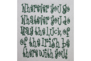 St Patrick Day Irish Blessing St Patrick's Day Embroidery Design By Wingsical Whims Designs
