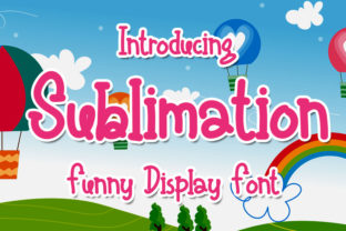Print on Demand: Sublimation Display Font By Eddygoodboy
