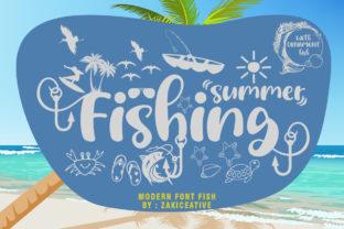 Print on Demand: Summer Fishing Script & Handwritten Font By zakicreative6