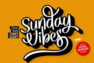 Print on Demand: Sunday Vibes Serif Fuente Por HIRO.std