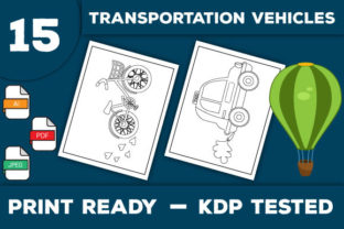 Print on Demand: Transportation Vehicles Coloring Pages Graphic Coloring Pages & Books Kids By Trend Color