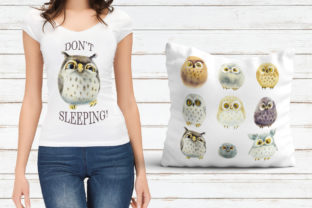 Watercolor Funny Owls Graphic Illustrations By Мария Кутузова 4