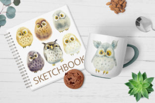 Watercolor Funny Owls Graphic Illustrations By Мария Кутузова 5