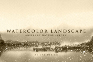Watercolor Landscape Graphic Backgrounds By DAYDESIGN