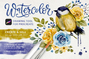 Print on Demand: Watercolor Tool Kit for Procreate Graphic Brushes By Red Ink