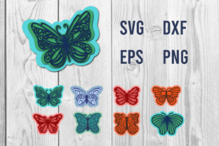Print on Demand: Butterfly 3d Svg Cut File Graphic Crafts By dadan_pm