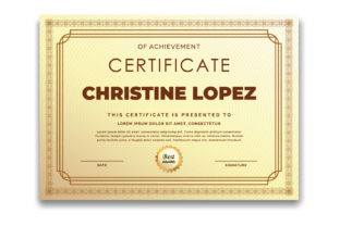 Print on Demand: Modern Ornament Frame Certificate Graphic Print Templates By iop_micro