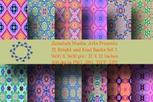 Print on Demand: 12 Bright and Kind Pack 3 Graphic Backgrounds By Zaimfuls Mystic Arts