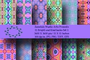 Print on Demand: 12 Bright and Kind Set 2 Graphic Backgrounds By Zaimfuls Mystic Arts