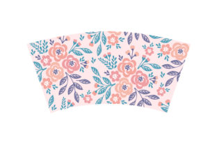 Floral Wrap for 16oz Skinny Tumbler Designs & Drawings Craft Cut File By Creative Fabrica Crafts