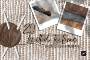 20knitted Textures.Brushes for Procreate Graphic Brushes By art_in_myheart