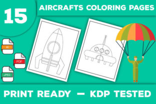Print on Demand: Aircrafts Coloring Pages Graphic Coloring Pages & Books Kids By Trend Color