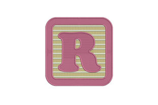 Alphabet R Letter School & Education Embroidery Design By DigitEMB
