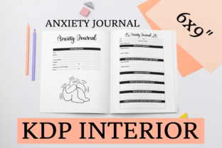 Print on Demand: Anxiety Journal | KDP Journal Graphic KDP Interiors By KDP Mastermind