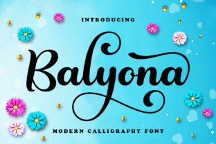 Print on Demand: Balyona Script & Handwritten Font By Ws Studio