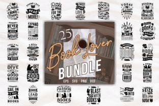 Print on Demand: Book Lover Quotes Designs SVG Bundle Graphic Print Templates By Universtock