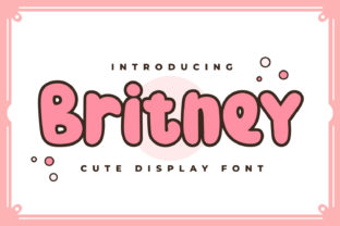 Print on Demand: Britney Display Font By OKEVECTOR