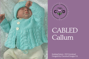 Cabled Callum Knitting Pattern Graphic Knitting Patterns By Cherished Designs UK