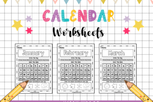 Calendar Worksheets Graphic K By Happy Kiddos 1