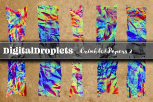 Crinkled Paper Vol. 4 | 180 Washi Tapes Graphic Objects By FlyingMonkies