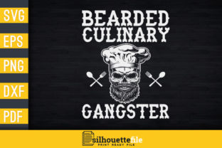 Print on Demand: Culinary Gangster Graphic Print Templates By Silhouettefile